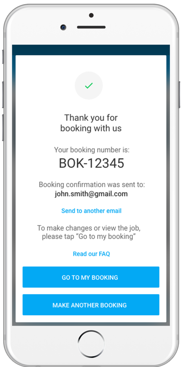Customer Booking iPhone
